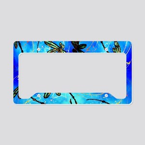 Dragonfly Flit Electric Blue License Plate Holder