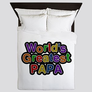 World's Greatest Papa Queen Duvet