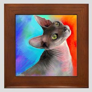 Sphynx Cat 21  Framed Tile