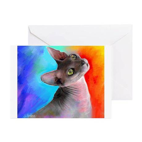 Sphynx Cat 21 Greeting Cards (Pk of 10)