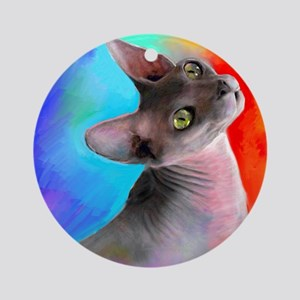 Sphynx Cat 21  Ornament (Round)
