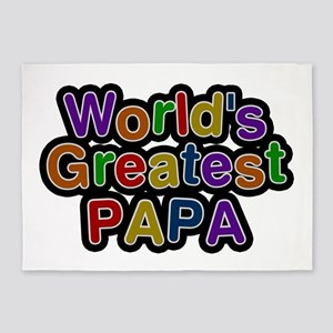 World's Greatest Papa 5'x7' Area Rug