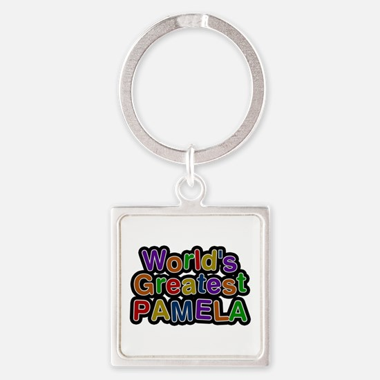 World's Greatest Pamela Square Keychain