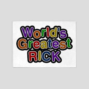 World's Greatest Rick 5'x7' Area Rug