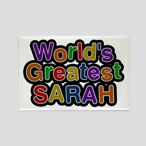 World's Greatest Sarah Rectangle Magnet