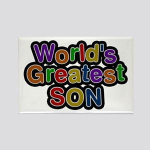 World's Greatest Son Rectangle Magnet