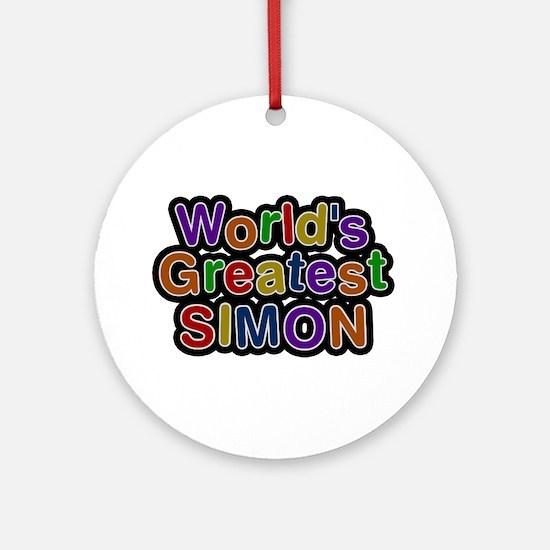 World's Greatest Simon Round Ornament