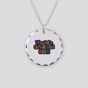 World's Greatest Son Necklace Circle Charm
