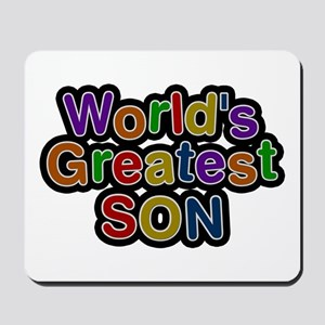 World's Greatest Son Mousepad