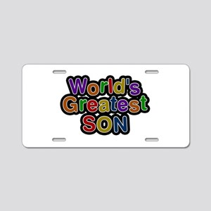 World's Greatest Son Aluminum License Plate