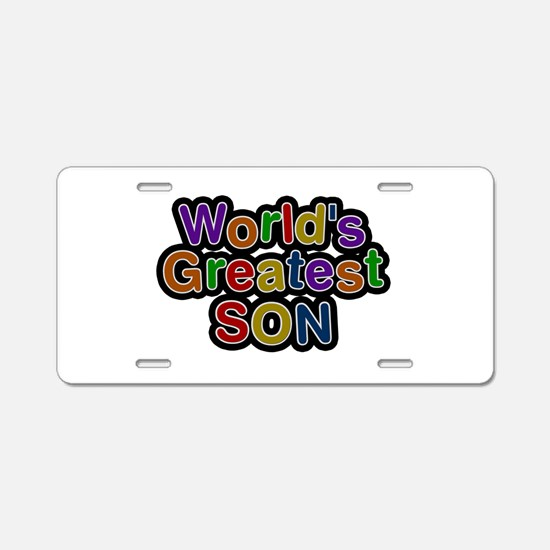 World's Greatest Son Aluminum License Plate