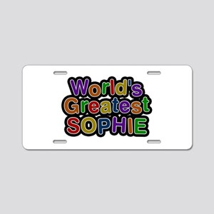 World's Greatest Sophie Aluminum License Plate