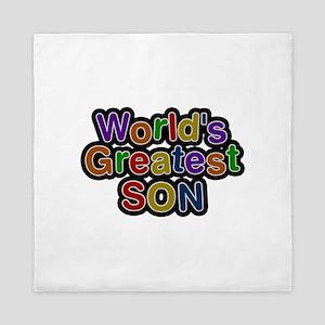 World's Greatest Son Queen Duvet