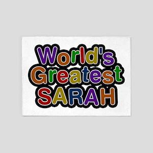 World's Greatest Sarah 5'x7' Area Rug