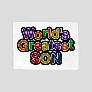 World's Greatest Son 5'x7' Area Rug