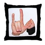 ASL I Love You Mom & Baby Throw Pillow