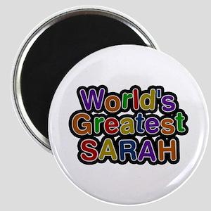 World's Greatest Sarah Round Magnet