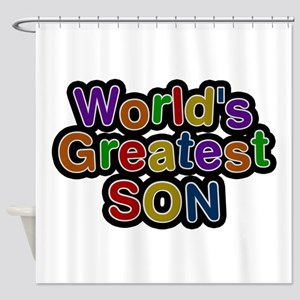 World's Greatest Son Shower Curtain