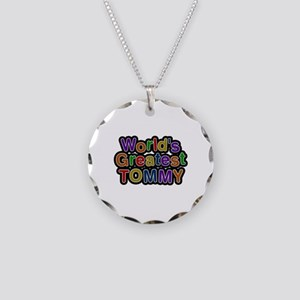 World's Greatest Tommy Necklace Circle Charm