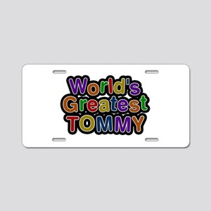 World's Greatest Tommy Aluminum License Plate