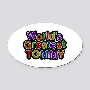 World's Greatest Tommy Oval Car Magnet
