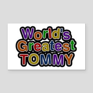 World's Greatest Tommy Rectangular Car Magnet