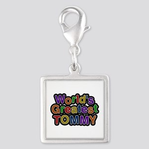 World's Greatest Tommy Silver Square Charm