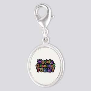 World's Greatest Tommy Silver Oval Charm
