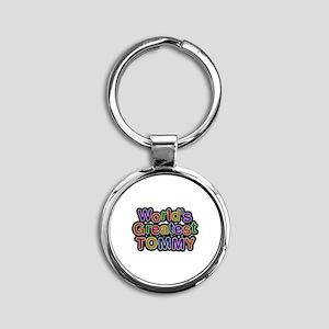 World's Greatest Tommy Round Keychain