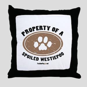 Westiepoo dog Throw Pillow