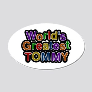 World's Greatest Tommy 20x12 Oval Wall Decal