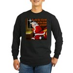 'Santa knelt' Long Sleeve Dark T-Shirt