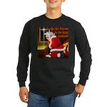 'Santa knelt' Long Sleeve Dark T-Shirt