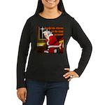 'Santa knelt' Women's Long Sleeve Dark T-Shirt
