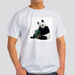 """Panda Bear"" Ash Grey T-Shirt"