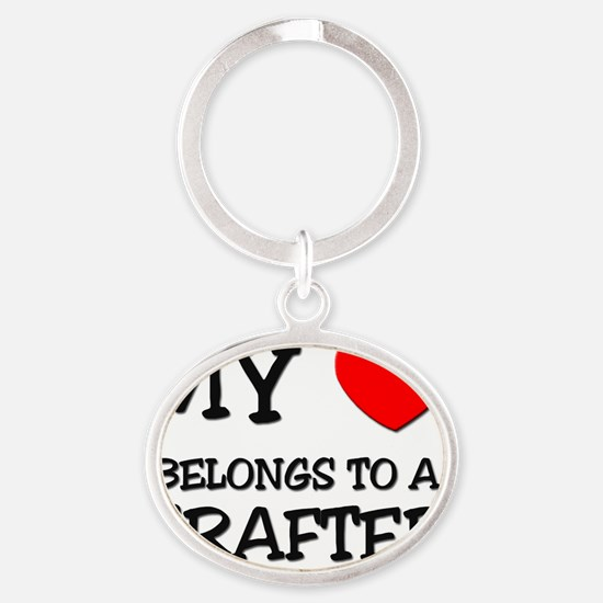 CRAFTER109 Oval Keychain
