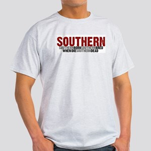 SOUTHERN BORN Ash Grey T-Shirt