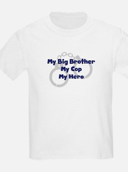 My Big Brother My Cop Kids T-Shirt