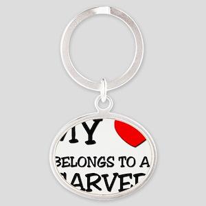 CARVER124 Oval Keychain