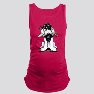 Poodle Pirate Maternity Tank Top