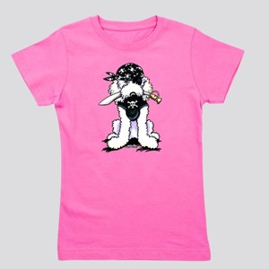 Poodle Pirate Girl's Tee