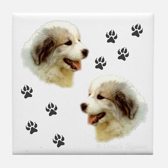 Puppy Paws<br>Tile Coaster