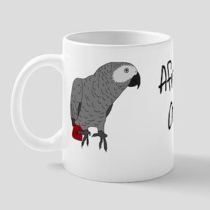 African Grey on Board Bumper Mug