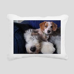 thanks_dog_card Rectangular Canvas Pillow