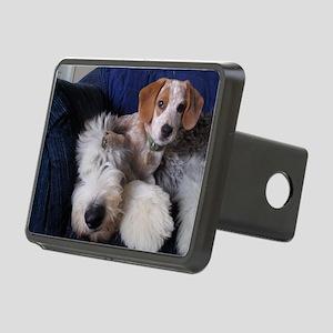 thanks_dog_card Rectangular Hitch Cover