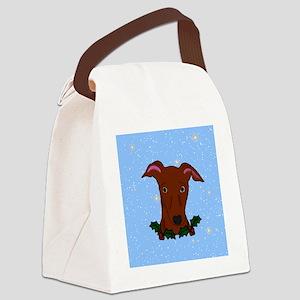 ornament_italiangreyhound Canvas Lunch Bag