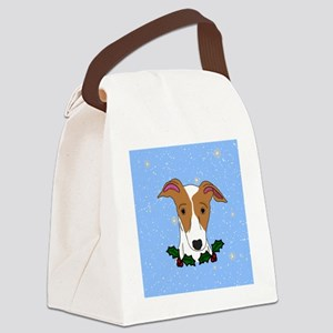 ornament_italiangreyhoundlight Canvas Lunch Bag