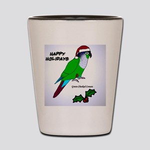ornament_greencheek Shot Glass
