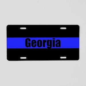 Georgia Police Aluminum License Plate
