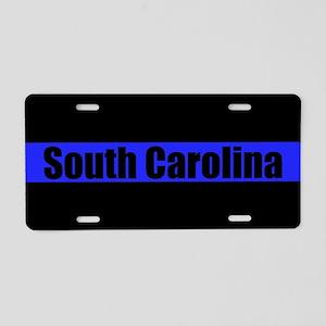 South Carolina Police Aluminum License Plate